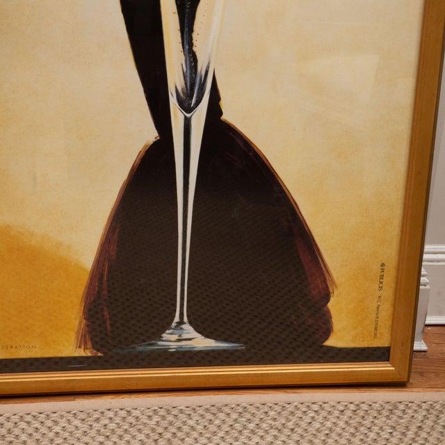 "Oversized ""I' instant Taittinger"" Champagne Poster For Sale - Image 4 of 8"