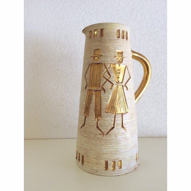 Fratelli Fanciullacci Gold Accented Pitcher - Image 2 of 5