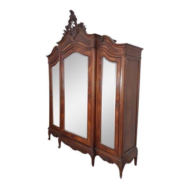 19th Century Italian Louis XV Rococò Style Wood Carved Bedroom Set For Sale