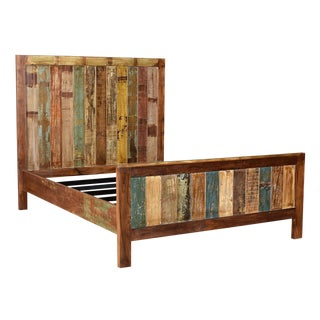Reclaimed Wood Queen Bed Frame For Sale