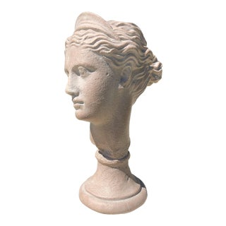 1980s Neoclassical Austin Productions Grecian Bust of Diana