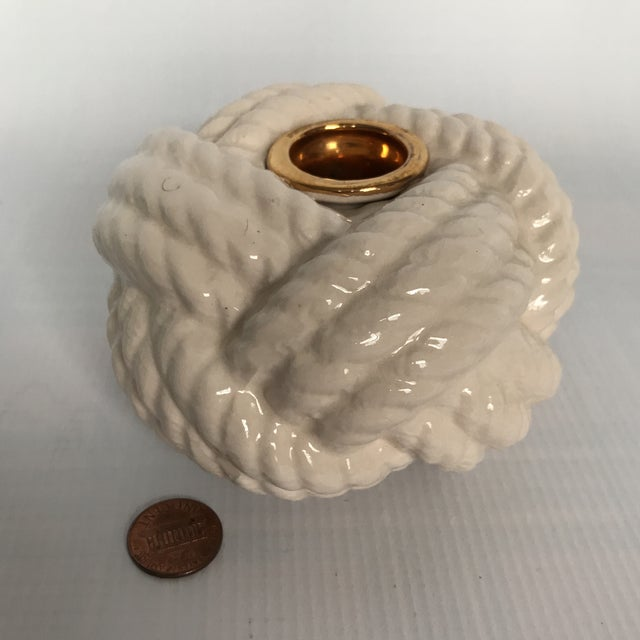 Nautical Porcelain Knot Candle Holder - Image 6 of 7