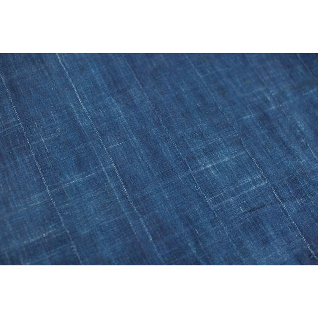 "Vintage Indigo African Batik Throw - 4' x 6'3"" - Image 7 of 7"