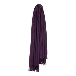 Arran Plain Cashmere Throw, Purple For Sale