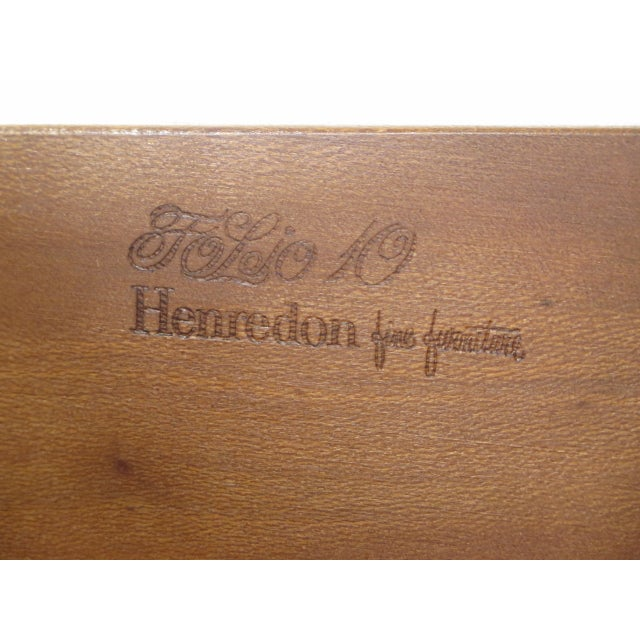 Henredon Folio 10 Walnut George III Style Secretary Desk - Image 10 of 11