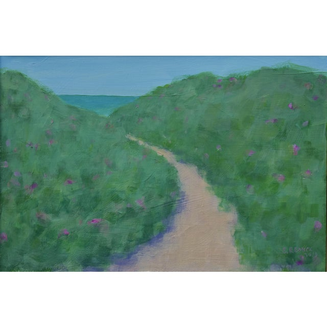 """Path Through the Beach Roses"" Contemporary Painting by Stephen Remick For Sale - Image 9 of 11"