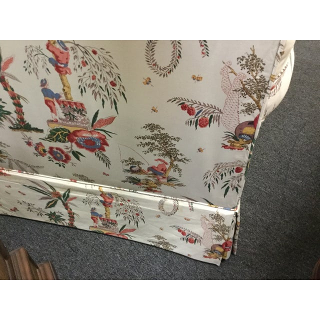 Vintage Toile Club Chairs - Pair - Image 5 of 7