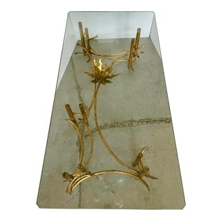Brutalist Lotus Coffee Table by Silas Seandel From 60's For Sale