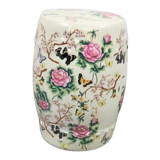 Chinese Porcelain Butterfly/Floral Garden Stool