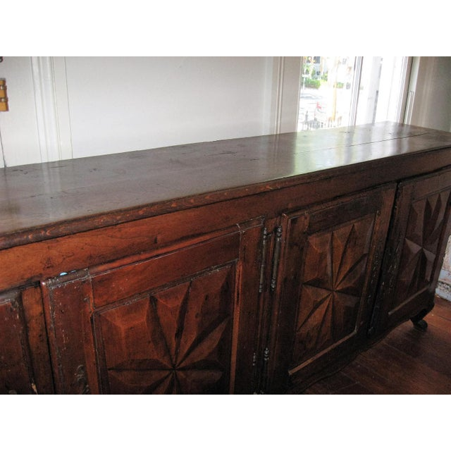 French Antique Sideboard in Walnut, 18th Century For Sale - Image 9 of 12
