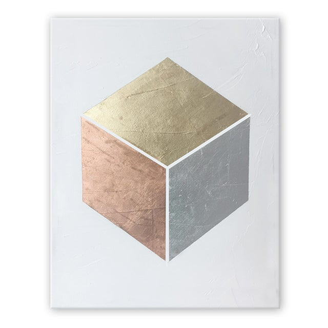 Not Yet Made - Made To Order Gilded Cube No. 1 - 36x48 For Sale - Image 5 of 5