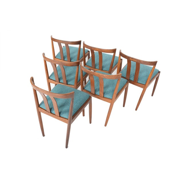 Danish Modern Curved Back Teak Dining Chairs - Set of 6 - Image 7 of 10