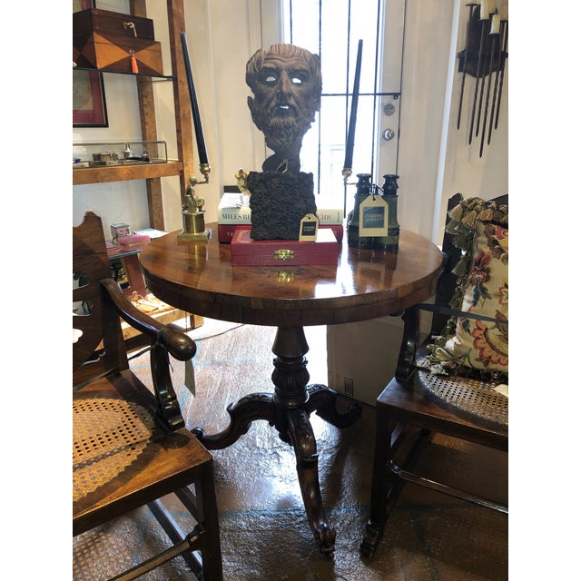 19th Century English Regency Rosewood Pedestal Table For Sale - Image 9 of 10