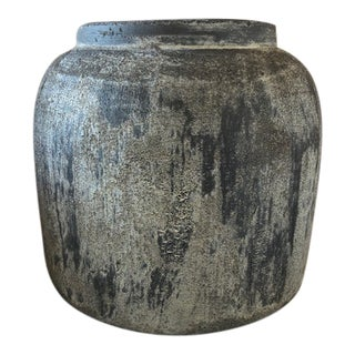 Gray Washed Planter Pot For Sale