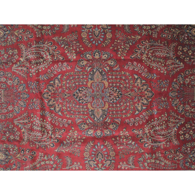 "Leon Banilivi Antique Tabriz Carpet -- 8'10"" x 12' For Sale - Image 4 of 5"