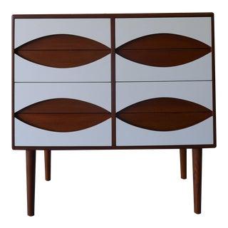 Mid Century Modern Teak + White Dresser