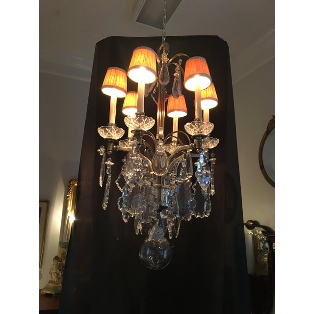 Contemporary Vintage Hart Crystal Arm Chandelier For Sale - Image 3 of 11
