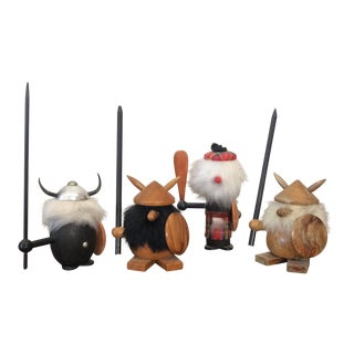 Mid-Century Scandinavian Vikings - Set of 4