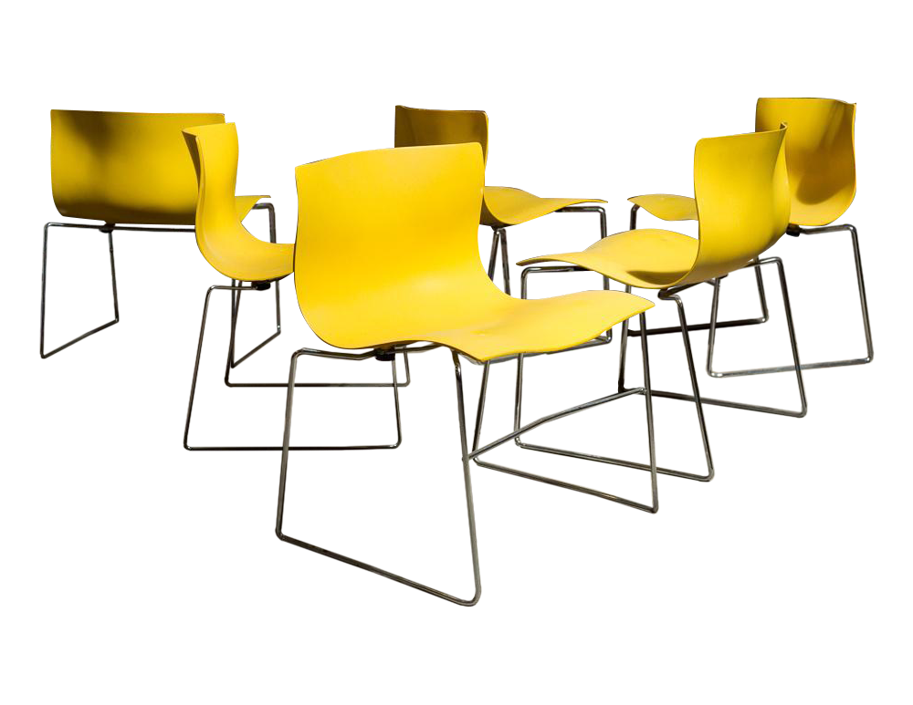 Exceptional Vignelli Handkerchief Chairs For Knoll   Set Of 6