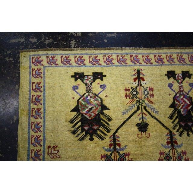 Vintage Turkish Oushak Rug with Modern Style, Yellow Oushak Rug For Sale - Image 5 of 10