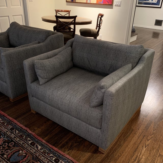 Contemporary Cisco Home Chairs- a Pair For Sale - Image 3 of 12