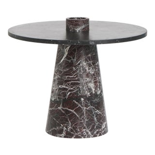Modern Coffee Table in Red and Black Marble, by Karen Chekerdjian For Sale