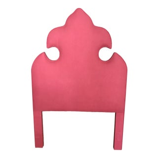 Pink Upholstered Twin Headboard