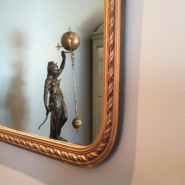 Antique Gilt Carved Arched Mirror - Image 5 of 6