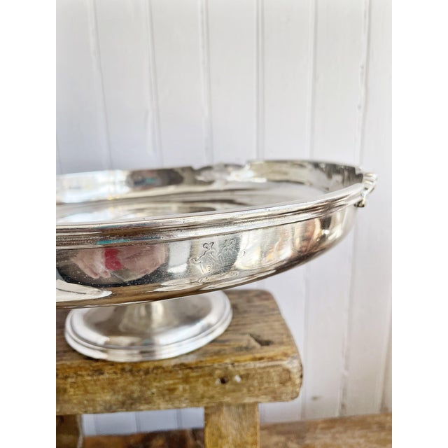 Traditional Antique Silver Plated Dessert Stand From the Willard Hotel in Washington DC For Sale - Image 3 of 10