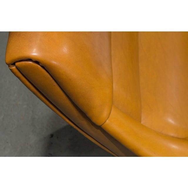 Tan High Back Danish Modern Lounge Chair For Sale - Image 8 of 10