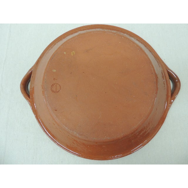 Vintage Portuguese Terracotta Serving Platter - Image 4 of 4