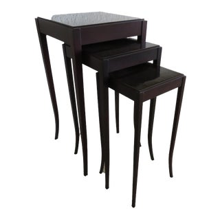 New! Barbara Barry for Baker Nesting Tables- 3 Pieces For Sale