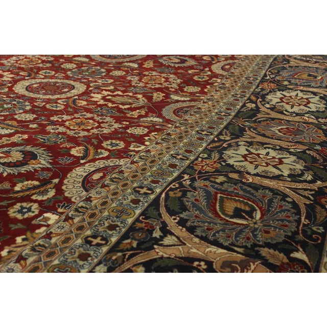 """Textile Heritage Sixta Red & Blue Wool Rug - 12'1"""" x 17'5"""" For Sale - Image 7 of 7"""