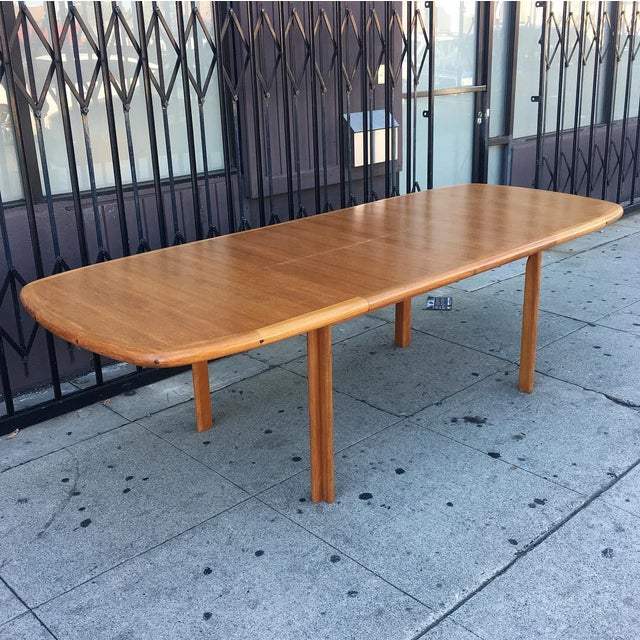 Danish Modern Diethelm Scanstyle Danish Modern Butterfly Dining Table in Teak For Sale - Image 3 of 13