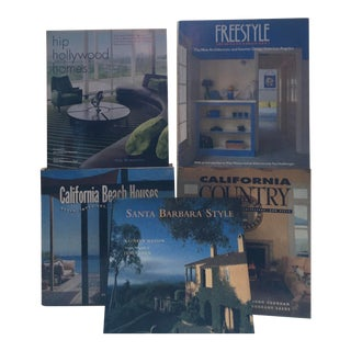 Southern California Home Style Living Books- Set of 5 For Sale