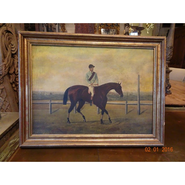Jockey on Race Horse Painting For Sale - Image 11 of 11