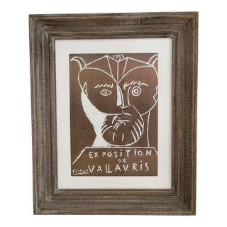 1955 Pablo Picasso Vallauris Exposition Lithograph, Framed For Sale