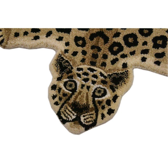 2000 - 2009 Contemporary Decorate Wild Animal Design Handcuffed Area Rug- 2′ × 3′ For Sale - Image 5 of 9