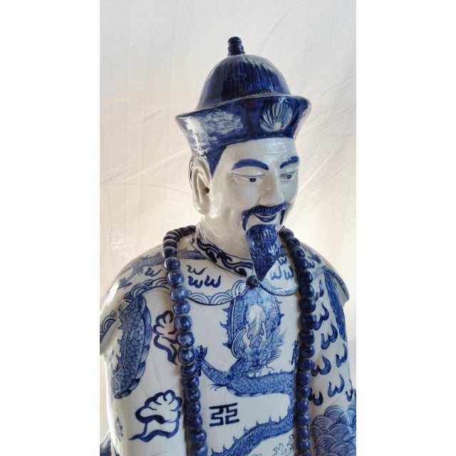 Very Large Scale Chinese Blue & White Figures - Image 6 of 9