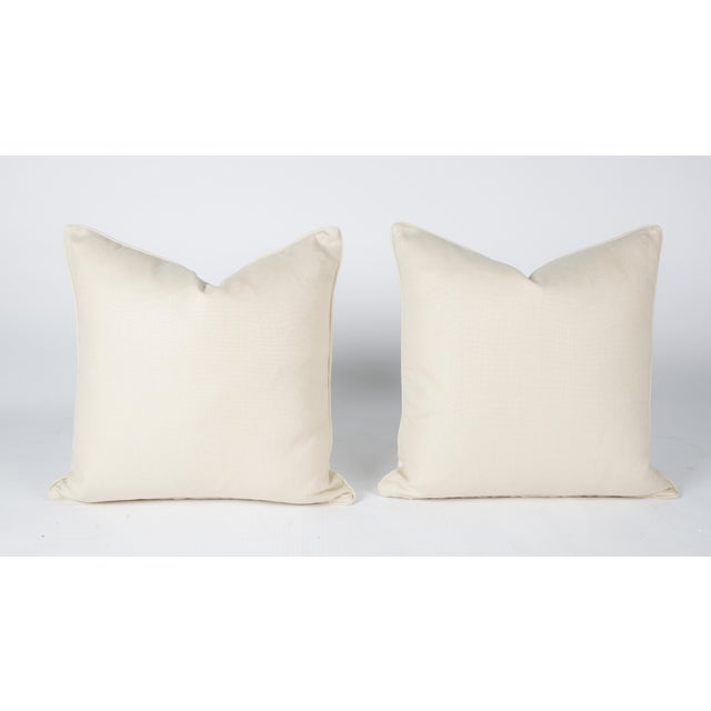 2010s Cream Velvet Spotted Cheetah Pillows - Pair For Sale - Image 5 of 5