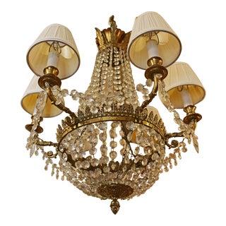 Otto Zenke Neoclassical Empire Style Chandelier For Sale