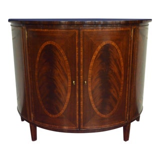 Leighton Hall Traditional Mahogany Demilune Cabinet For Sale