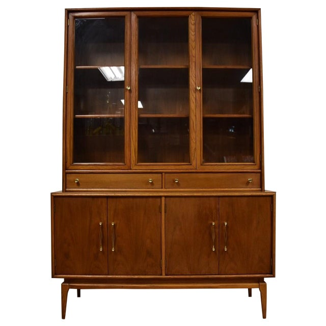 Keller Walnut Hutch Credenza - Image 1 of 9