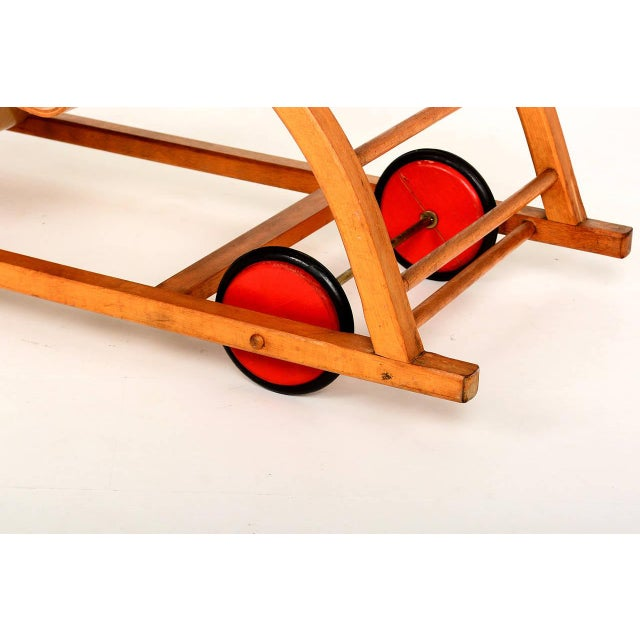 For your consideration a beautiful Mid-Century Modern car toy by Hans Brockhage and Erwin Andra. Made in early 1950s....