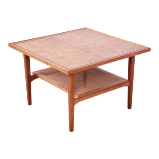Kipp Stewart for Drexel Declaration Mid-Century Modern Walnut Coffee or Occasional Table For Sale
