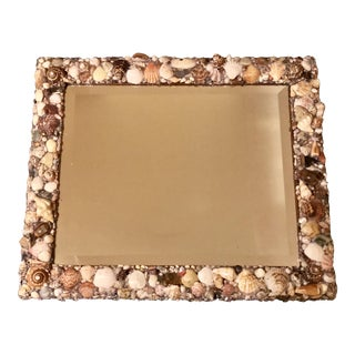 Custom Beveled Shell Embellished Mirror, No. III