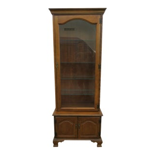 Mid 20th Century Maple China Cabinet by Jasper Cabinet For Sale