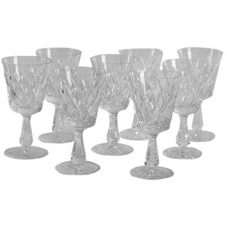 Waterford Water Goblets Kinsale Pattern - Set of 8 For Sale