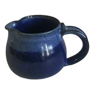 Blue Ceramic Milk Jug For Sale