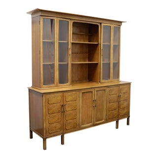 Thomasville Tamerlane Mid-Century China Cabinet / Buffet / Hutch For Sale